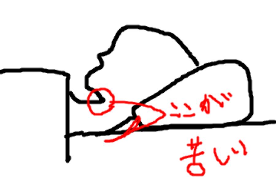 枕の肩こり
