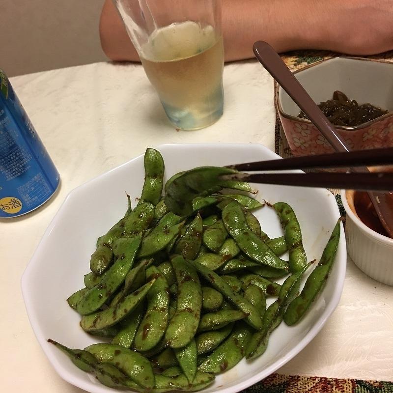 枝豆のホイル焼