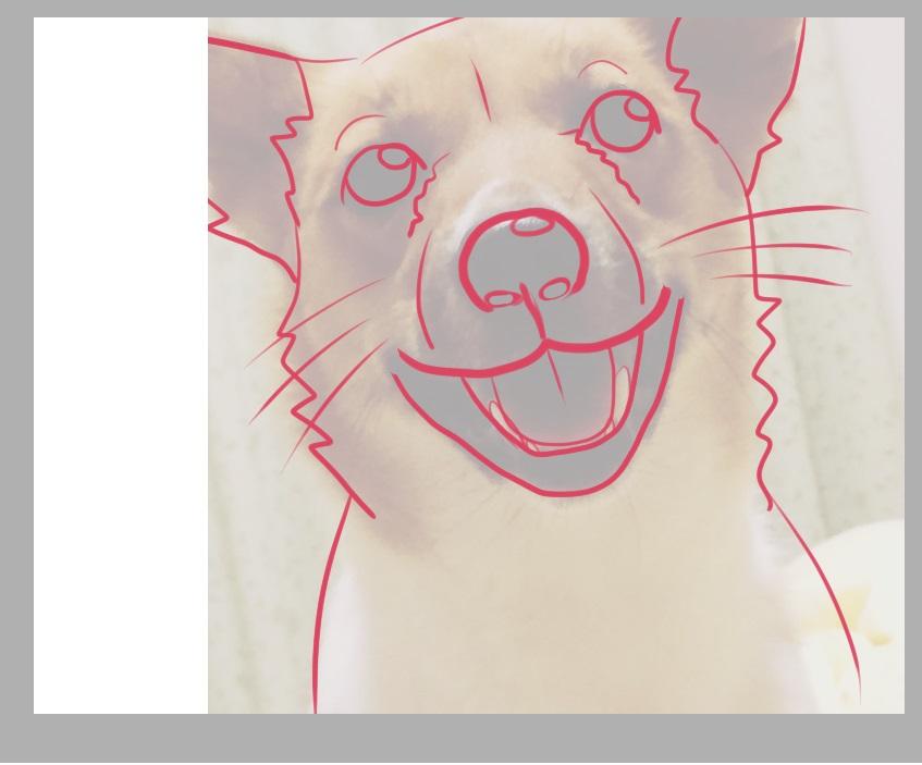 犬の線画1