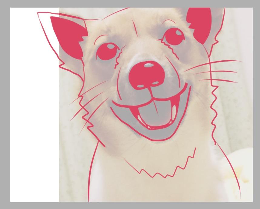 犬の線画2