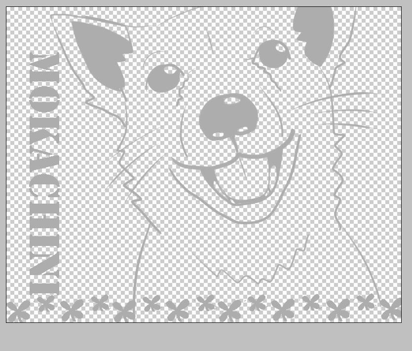 犬の線画4