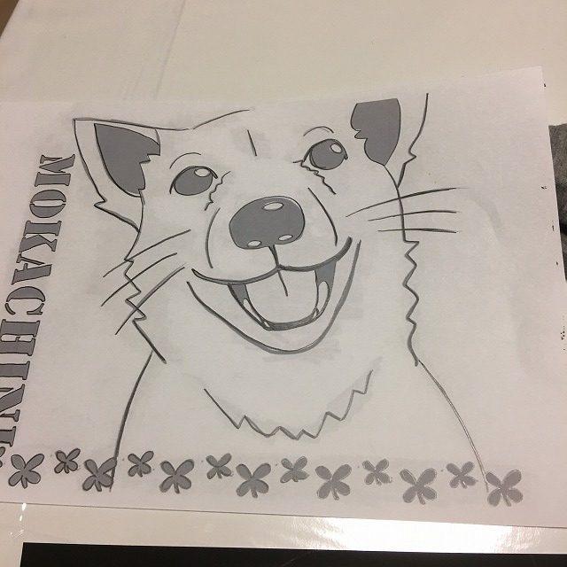 犬の線画5